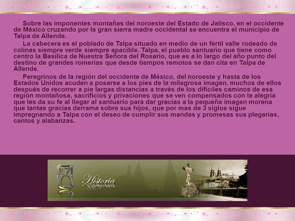 Durante su estancia en Talpa, el Padre Rubio Félix celebraba diariamente el santo sacrificio a los pies de la imagen renovada encendiendo cada vez aquellos cabos de vela.