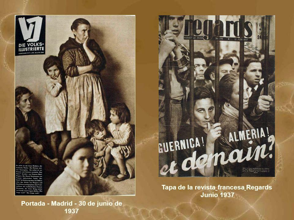 Portada - Madrid - 30 de junio de 1937 Tapa de la revista francesa Regards Junio 1937