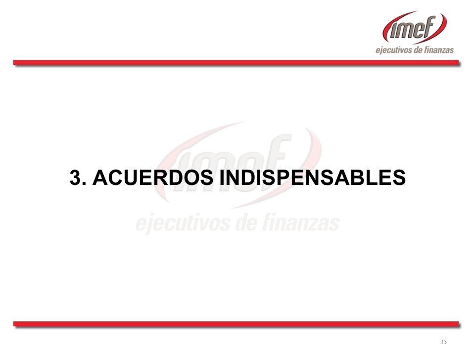 13 3. ACUERDOS INDISPENSABLES