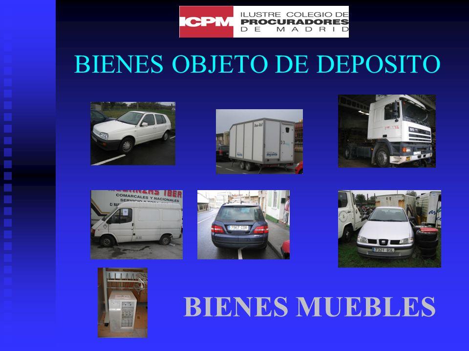 BIENES OBJETO DE DEPOSITO BIENES MUEBLES