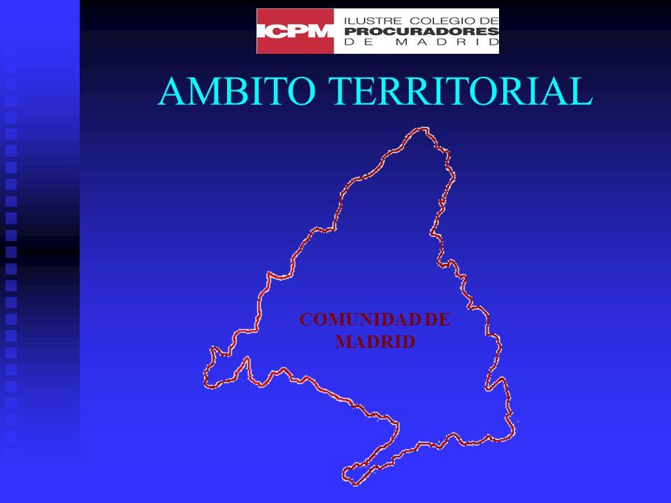 AMBITO TERRITORIAL COMUNIDAD DE MADRID