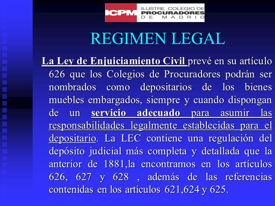 REGIMEN LEGAL La normativa que establece la LEC.