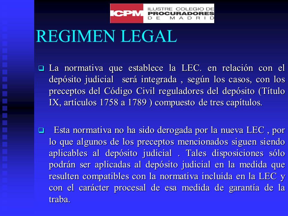 EXHIBICION Corresponde al depositario la exhibición de los bienes al Juzgado en las circunstancias que éste le indique.