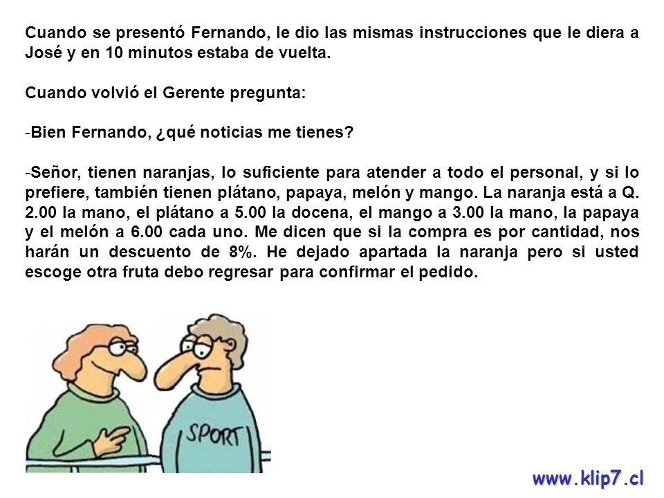 www.klip7.cl - Muchas gracias Fernando, puedes retirarte.