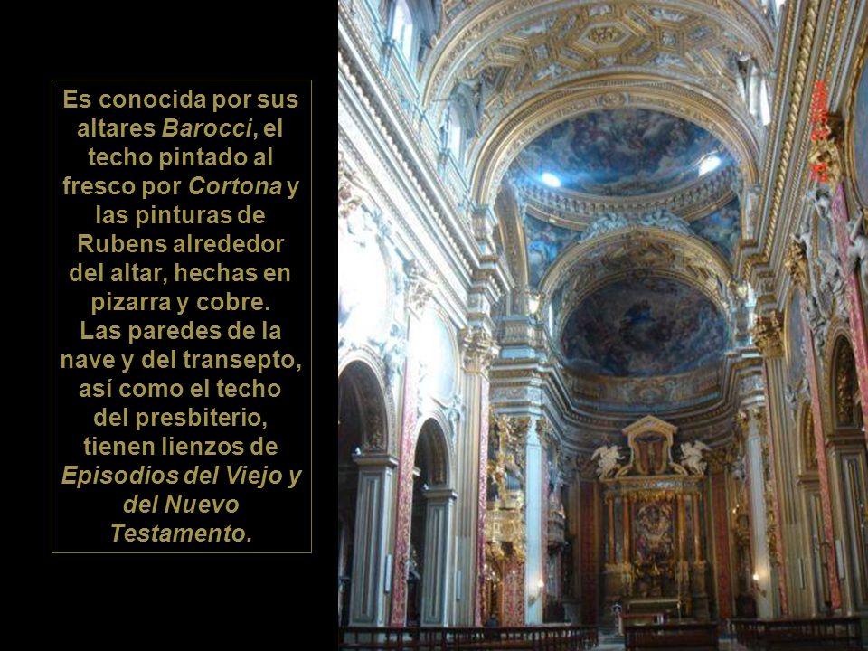 Chiesa Nuova («Iglesia nueva»), nombre con el que se conoce a Santa Maria in Vallicella (Nuestra Señora del Valle Pequeño). La planta refleja el model