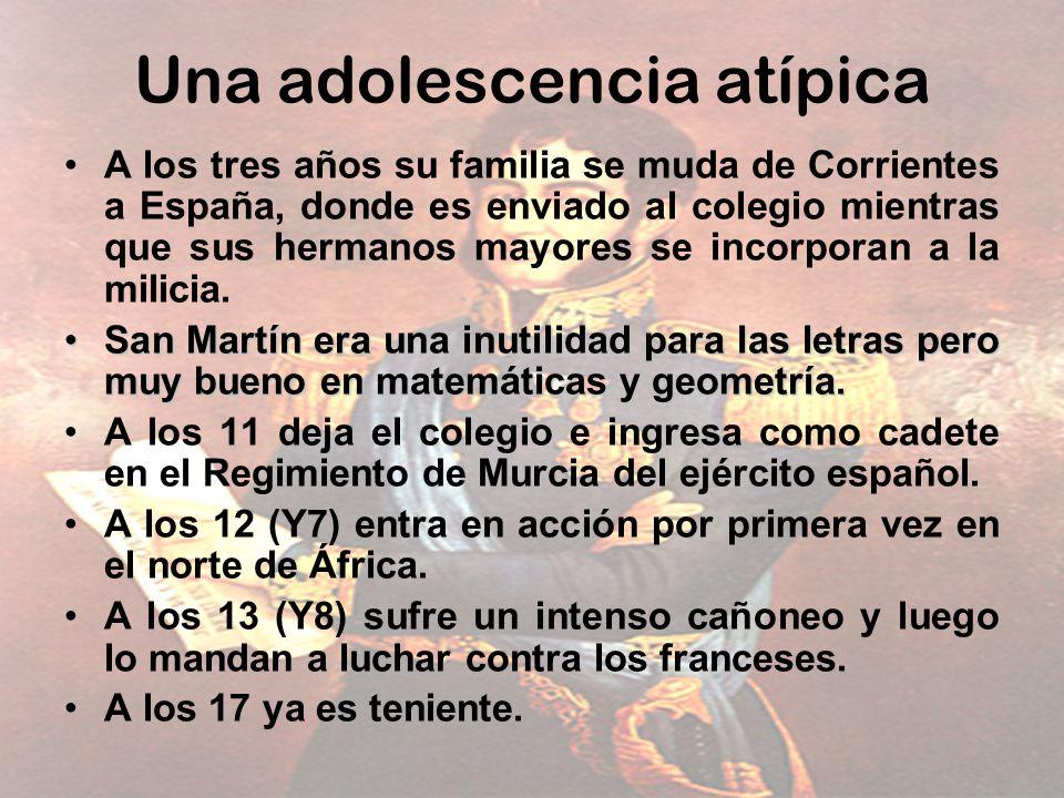 Una adolescencia atípica A los tres años su familia se muda de Corrientes a España, donde es enviado al colegio mientras que sus hermanos mayores se i