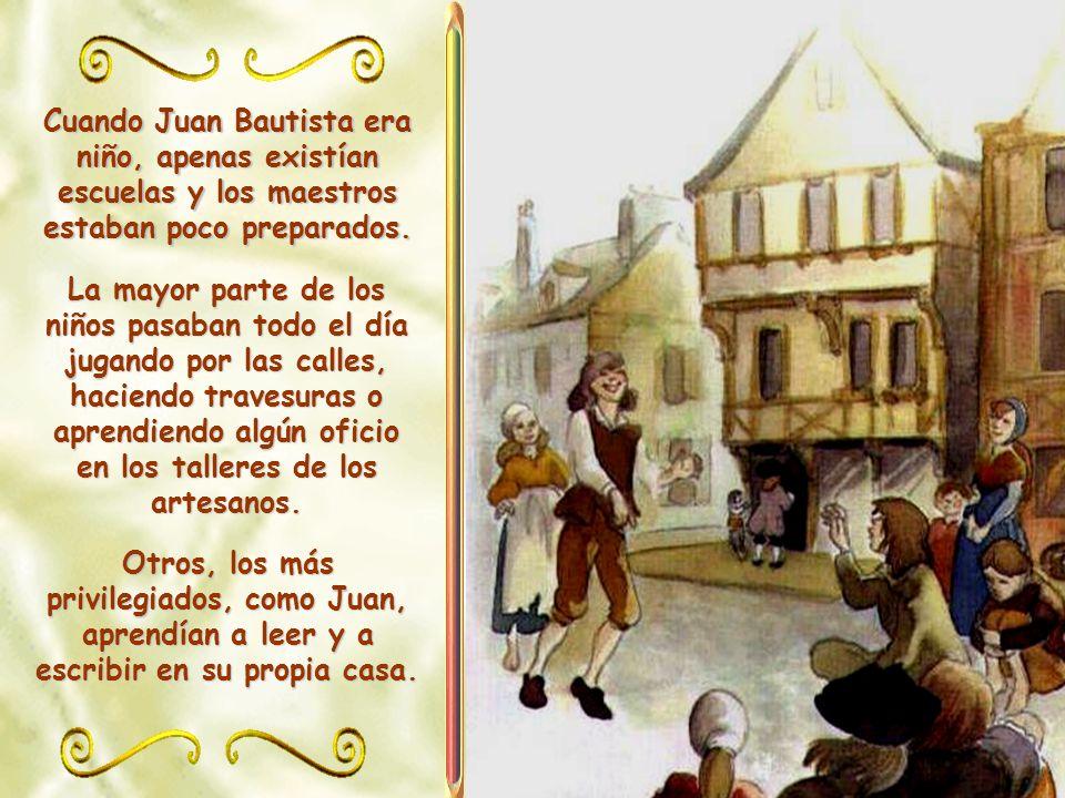Luis De La Salle quería hacer de su hijo mayor un verdadero caballero, educado y cristiano. Para ello lo inició en el arte de la esgrima, le enseñó a