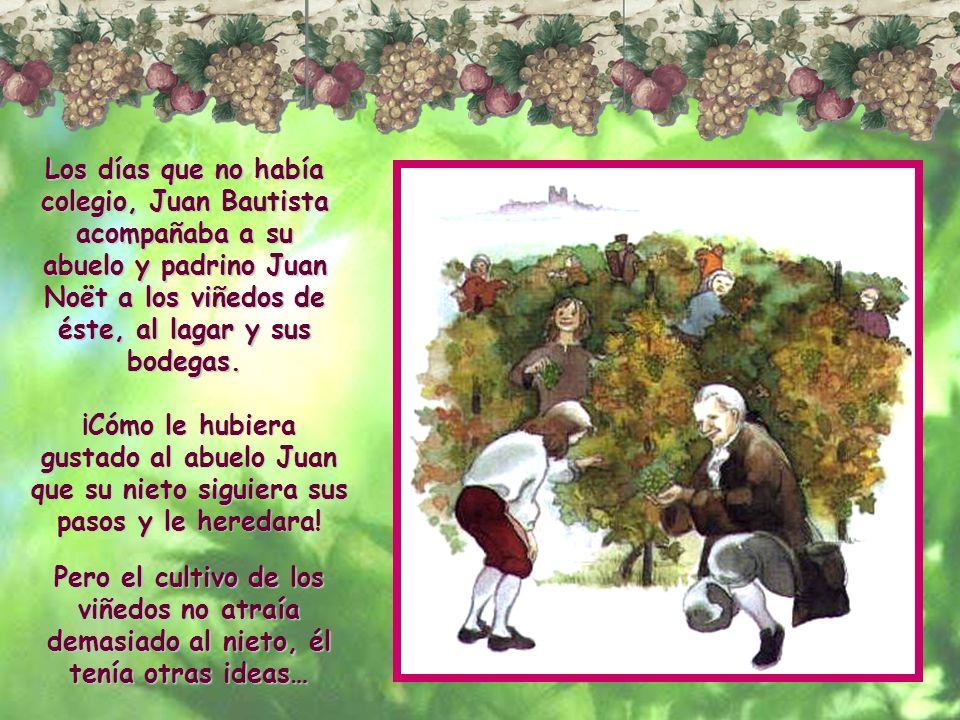 Cuando Juan Bautista cumplió diez años su padre lo inscribió en el Colegio de los Niños Buenos. En este colegio estudió Retórica, que es el arte de ex
