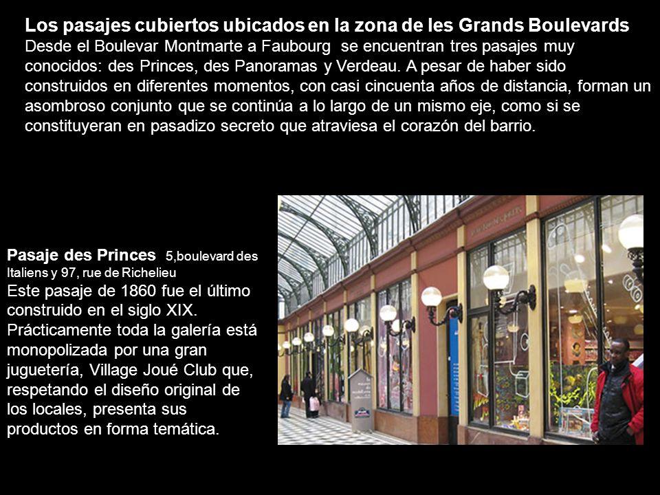 Pasaje del Prado 16, boulevard Saint-Denis 16, rue du Faubourg Saint-Denis Este pasaje conserva los soportes del techo en diseño art déco, único vesti