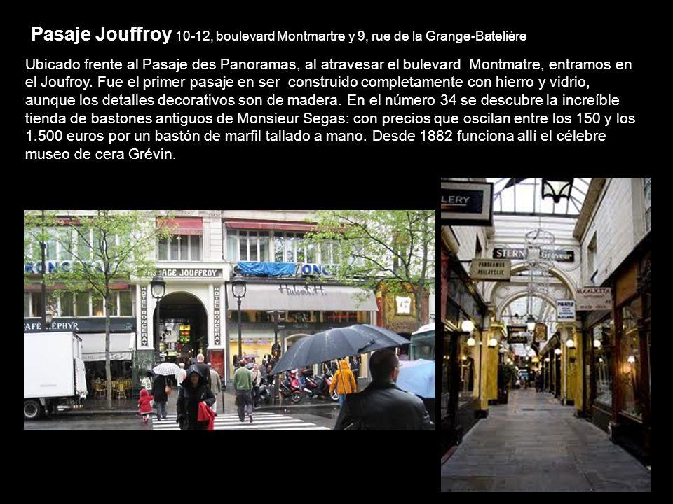 Pasaje Verdeau 10,Rue Saint Marc El pasaje Verdeau alberga antigüedades, acuarelas, diarios de época y una boutique Kodak de 1901 que vende cámaras de