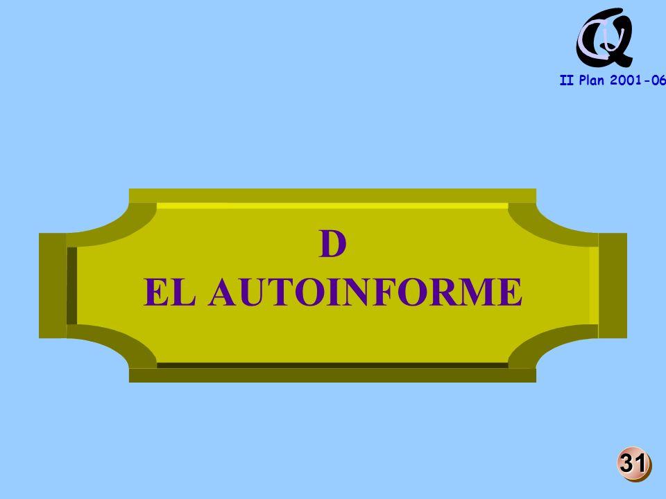 Q U C II Plan 2001-06 D EL AUTOINFORME 31