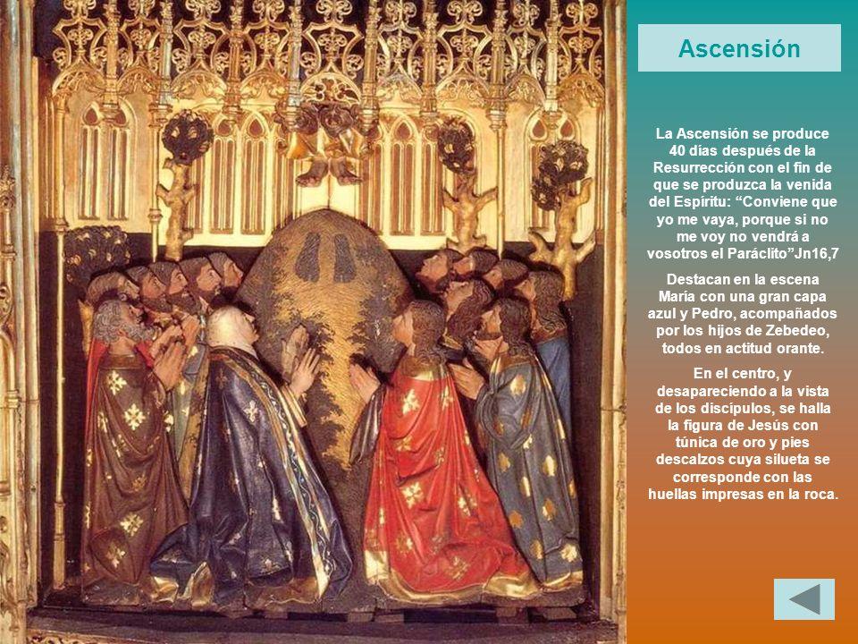 La Ascensión se produce 40 días después de la Resurrección con el fin de que se produzca la venida del Espíritu: Conviene que yo me vaya, porque si no