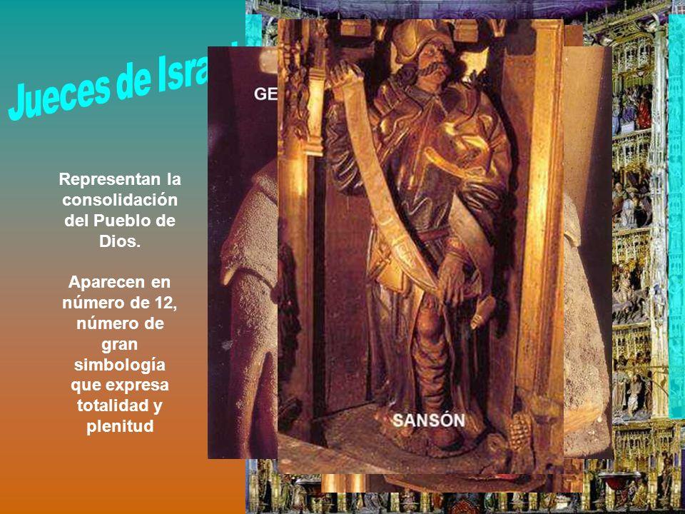 Representan la consolidación del Pueblo de Dios. Aparecen en número de 12, número de gran simbología que expresa totalidad y plenitud