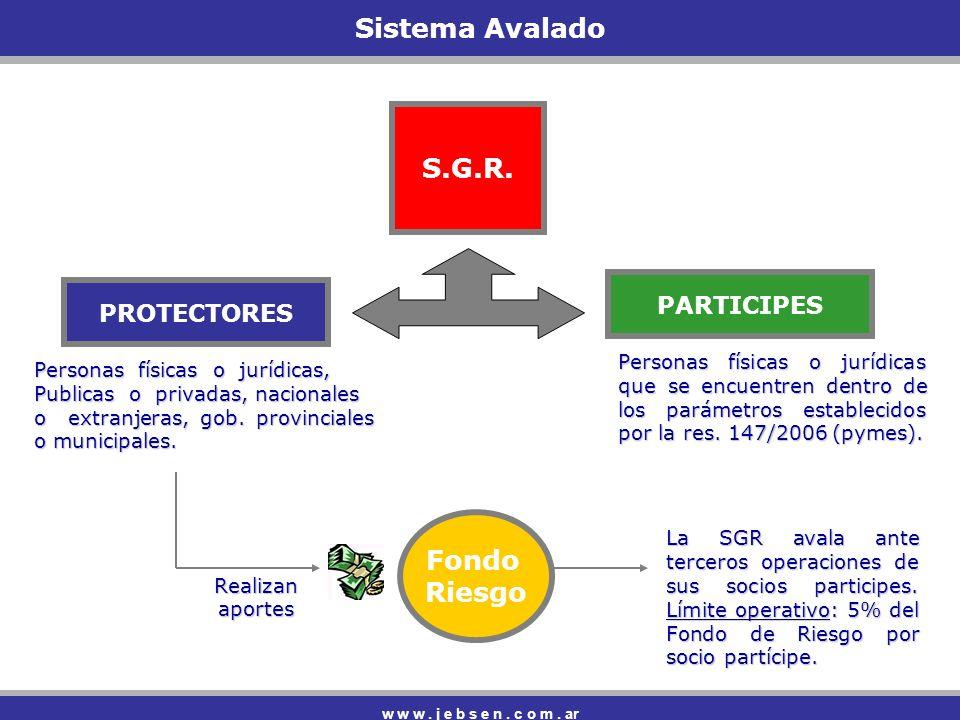 Sistema Avalado w w w.j e b s e n. c o m. ar S.G.R.