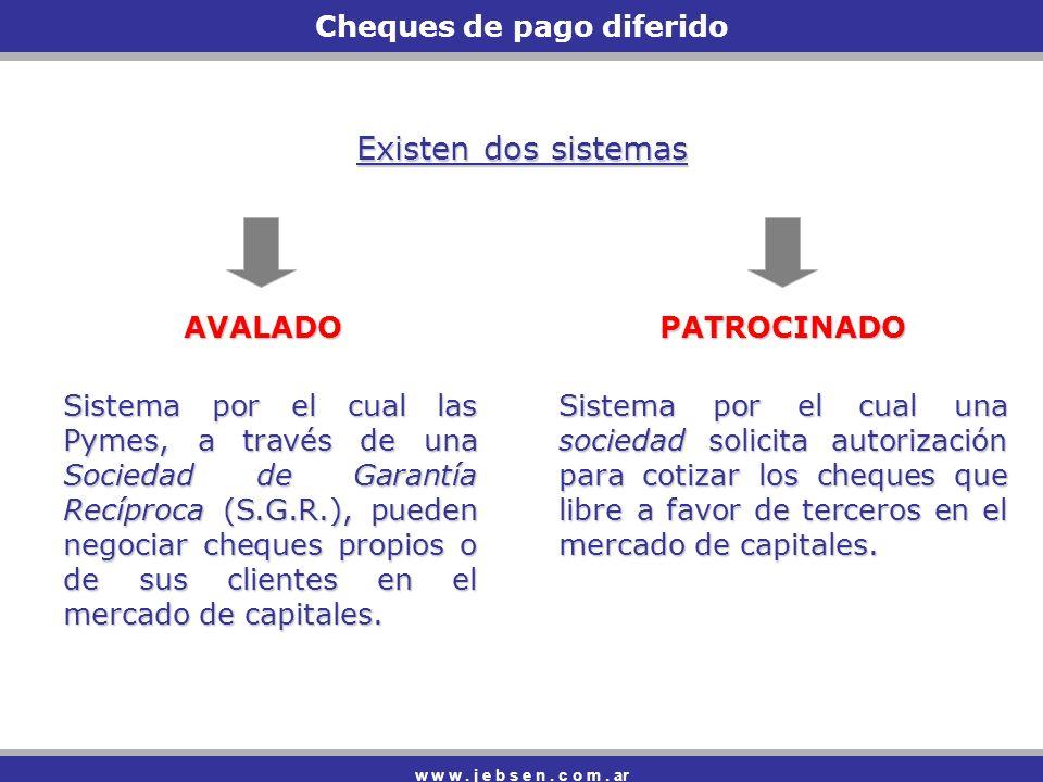Cheques de pago diferido w w w.j e b s e n. c o m.