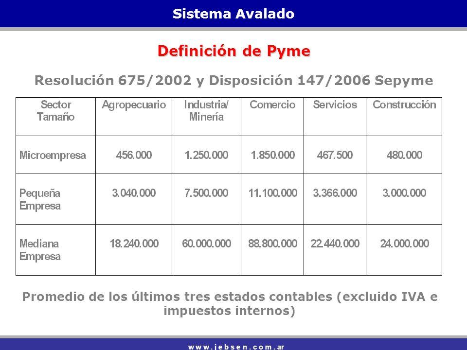 Sistema Avalado w w w.j e b s e n. c o m.