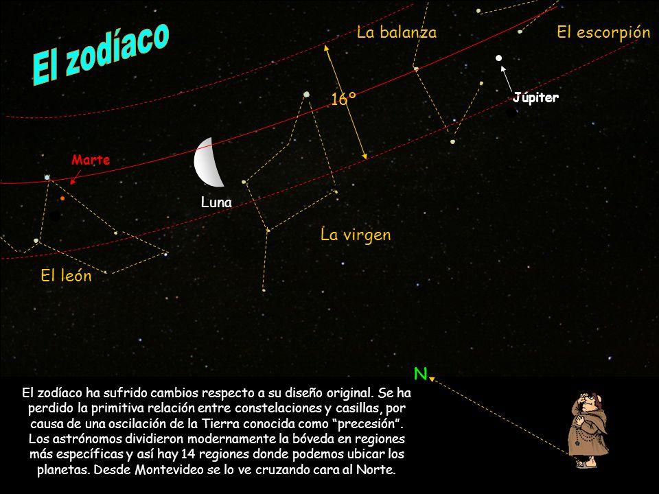 r Luna Marte Júpiter El león La virgen La balanzaEl escorpión N El zodíaco ha sufrido cambios respecto a su diseño original. Se ha perdido la primitiv