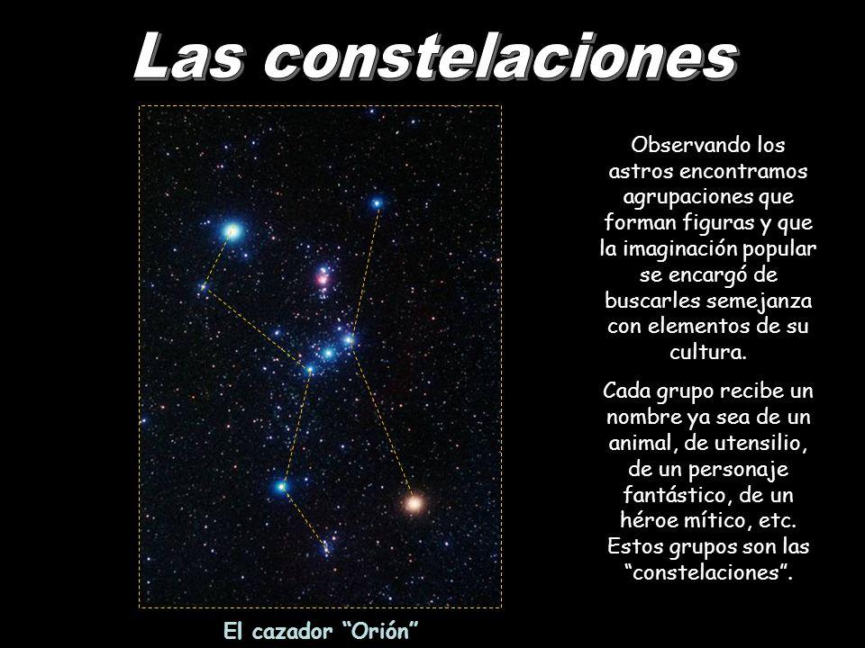 Observando los astros encontramos agrupaciones que forman figuras y que la imaginación popular se encargó de buscarles semejanza con elementos de su c