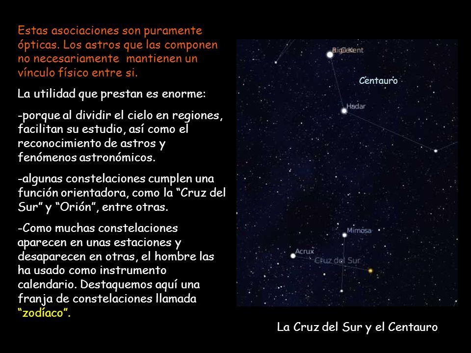 Estas asociaciones son puramente ópticas. Los astros que las componen no necesariamente mantienen un vínculo físico entre si. La utilidad que prestan