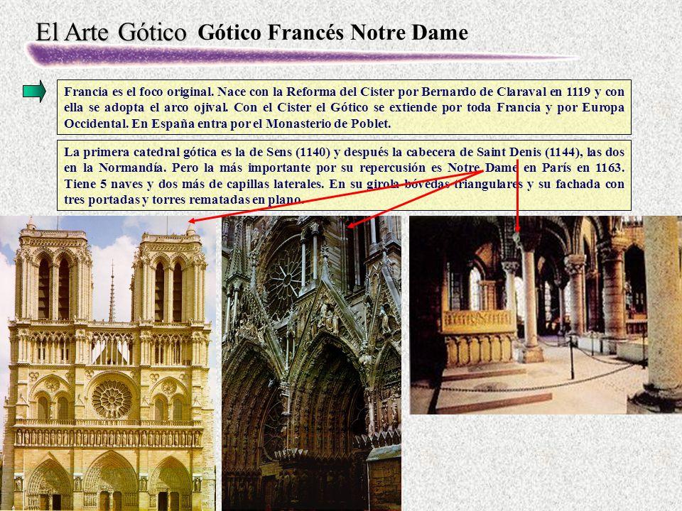 El Arte Gótico Gótico Francés Notre Dame Francia es el foco original.