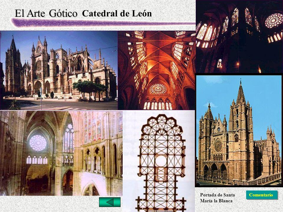 El Arte Gótico Catedral de León Comentario Portada de Santa María la Blanca
