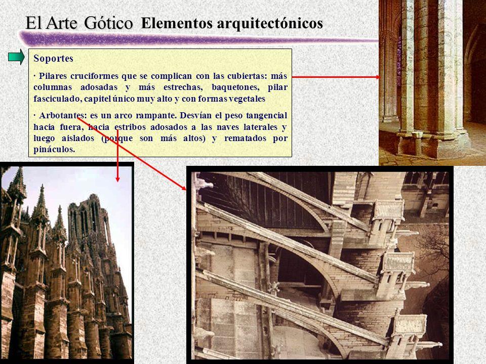 El Arte Gótico Gótico Castellano: Burgos La arquitectura gótica castellana tiene tres fases que coinciden con los siglos XIII, XIV y XV.