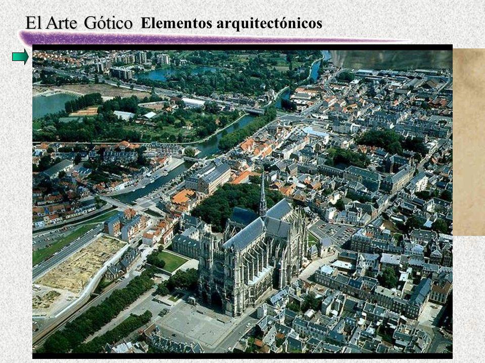 El Arte Gótico Elementos arquitectónicos La planta · Basilical con tres, cinco y hasta siete naves con una o tres de crucero.