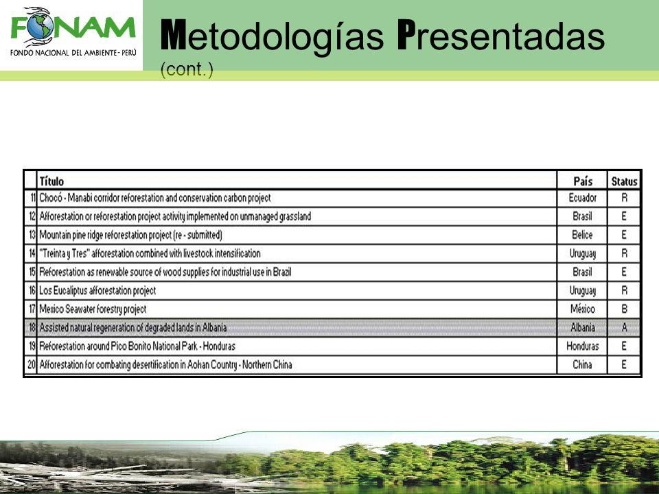 M etodologías P resentadas (cont.)