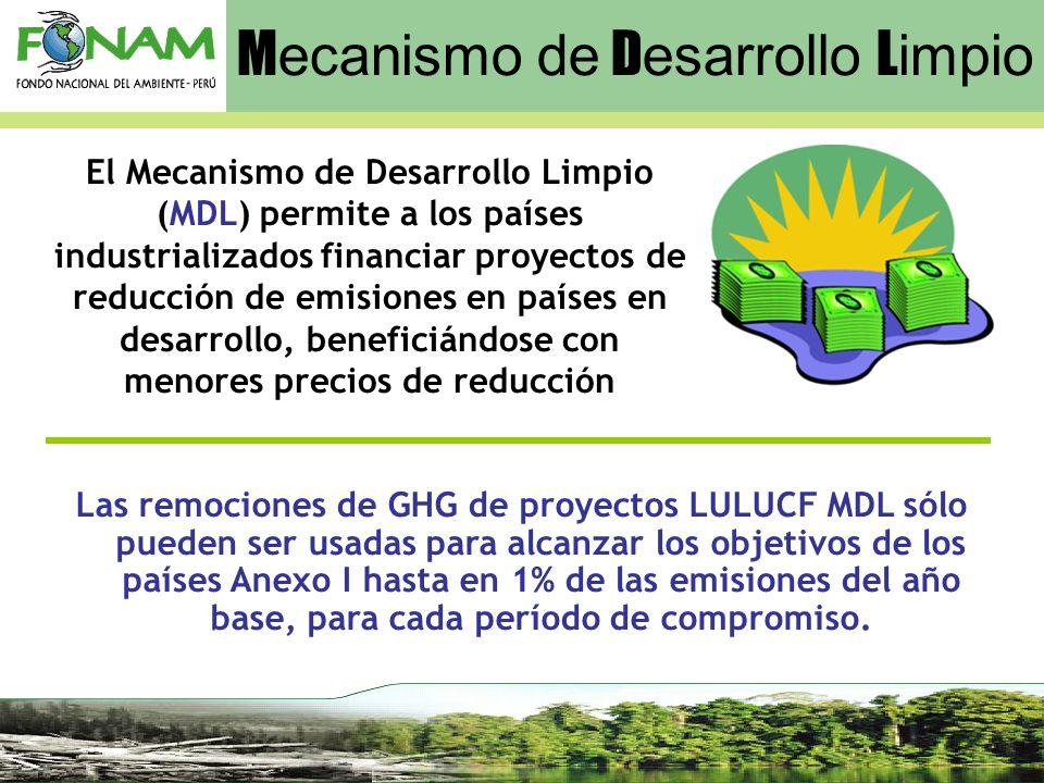 El Mecanismo de Desarrollo Limpio (MDL) permite a los países industrializados financiar proyectos de reducción de emisiones en países en desarrollo, b