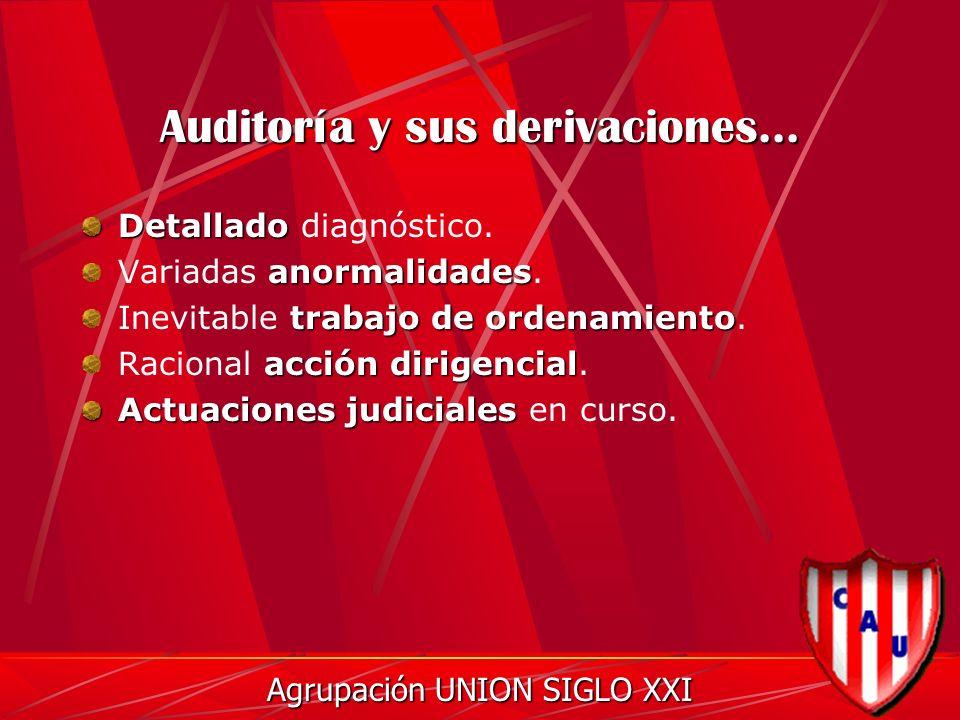 Auditoría y sus derivaciones... Detallado Detallado diagnóstico.