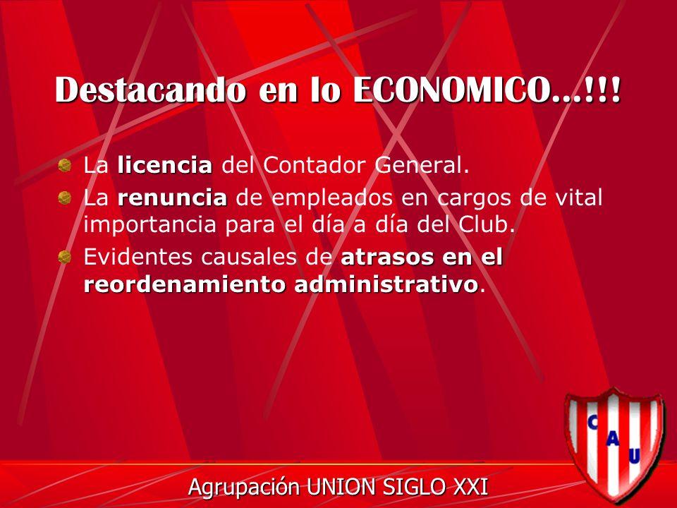 Destacando en lo ECONOMICO...!!. licencia La licencia del Contador General.