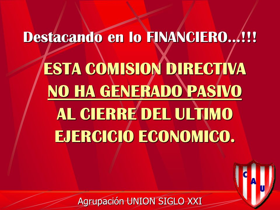 Destacando en lo FINANCIERO...!!.