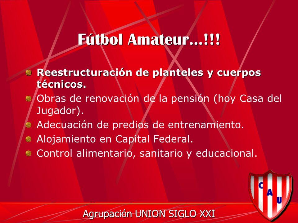 Fútbol Amateur...!!. Reestructuración de planteles y cuerpos técnicos.