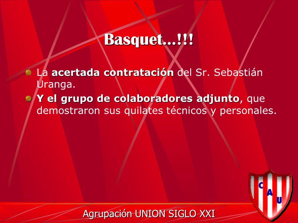 Basquet...!!. acertada contratación La acertada contratación del Sr.