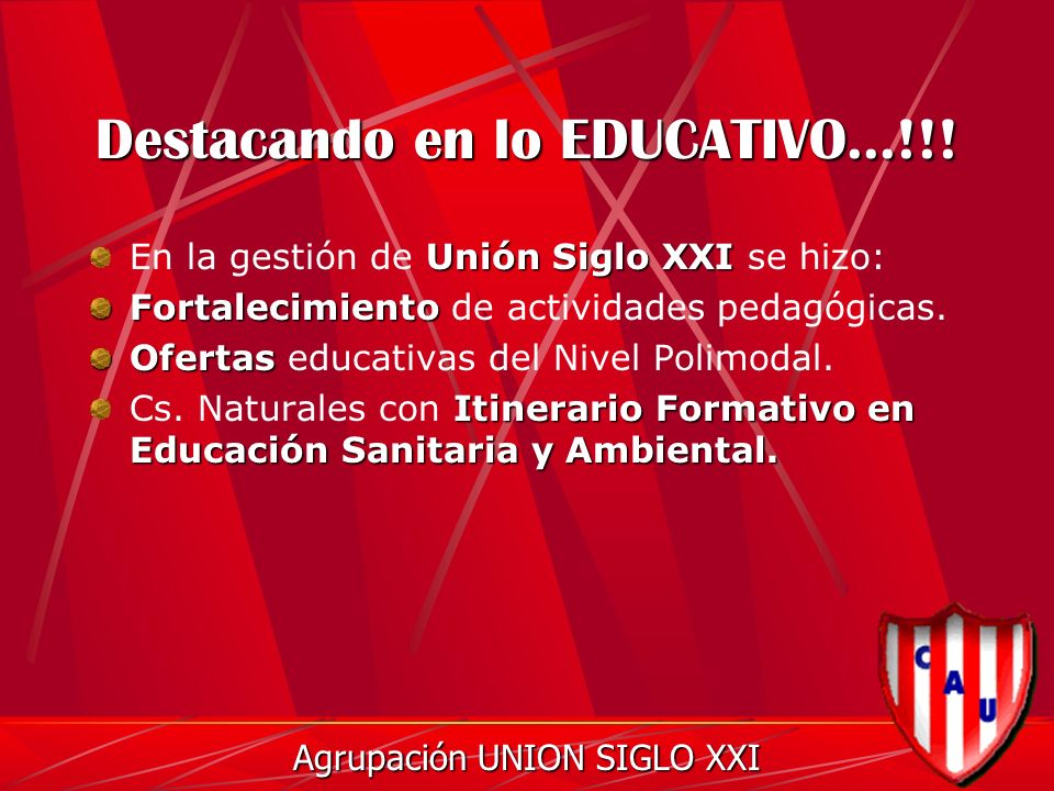 Destacando en lo EDUCATIVO...!!.
