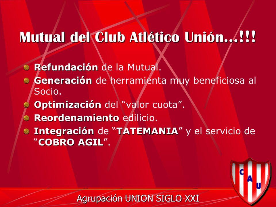 Mutual del Club Atlético Unión...!!. Refundación Refundación de la Mutual.