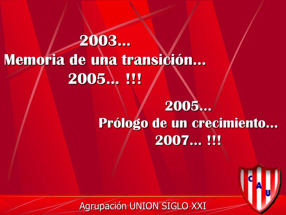 2003... Memoria de una transición... 2005... !!.