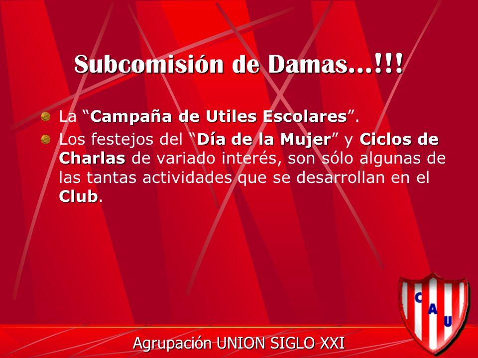 Subcomisión de Damas...!!. Campaña de Utiles Escolares La Campaña de Utiles Escolares.