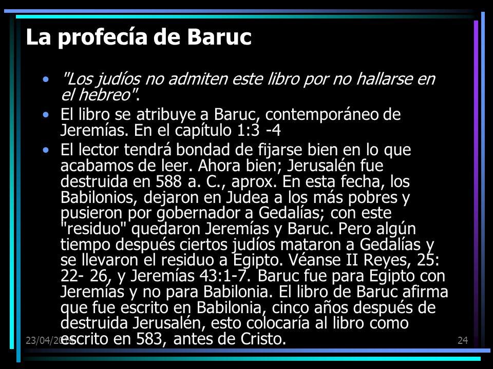 23/04/201424 La profecía de Baruc