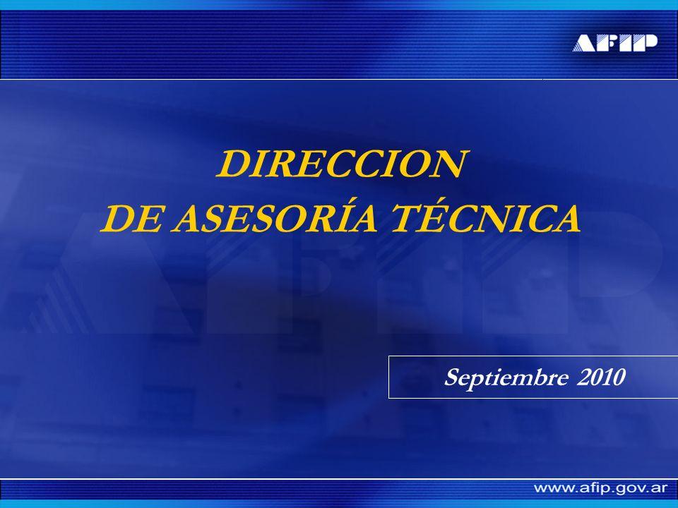 DIRECCION DE ASESORÍA TÉCNICA Septiembre 2010