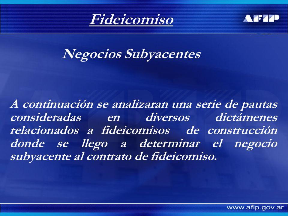 Fideicomiso Caso 4 Carácter jurídico adoptado.Empresa constructora.