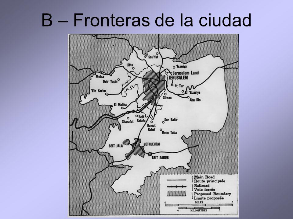 B – Fronteras de la ciudad