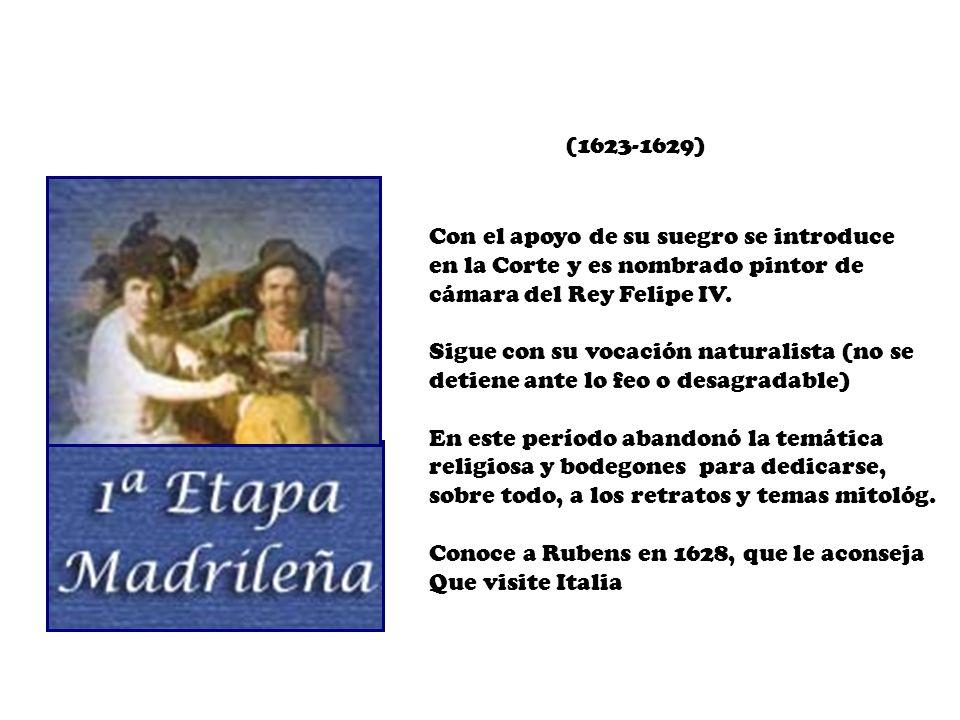 Con el apoyo de su suegro se introduce en la Corte y es nombrado pintor de cámara del Rey Felipe IV. Sigue con su vocación naturalista (no se detiene