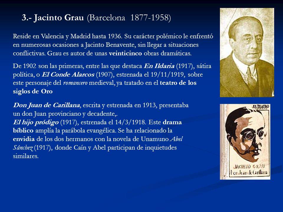 Reside en Valencia y Madrid hasta 1936. Su carácter polémico le enfrentó en numerosas ocasiones a Jacinto Benavente, sin llegar a situaciones conflict