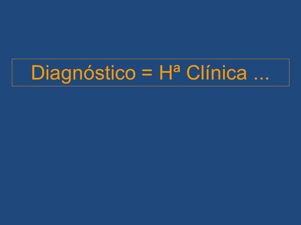 Diagnóstico = Hª Clínica...