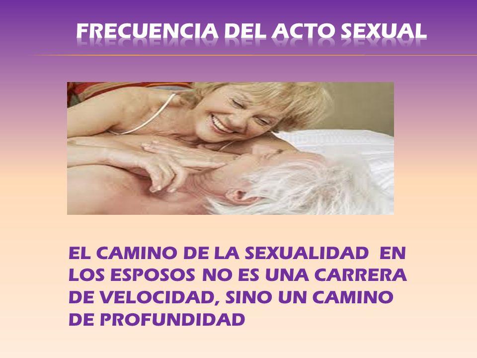 EL CAMINO DE LA SEXUALIDAD EN LOS ESPOSOS NO ES UNA CARRERA DE VELOCIDAD, SINO UN CAMINO DE PROFUNDIDAD