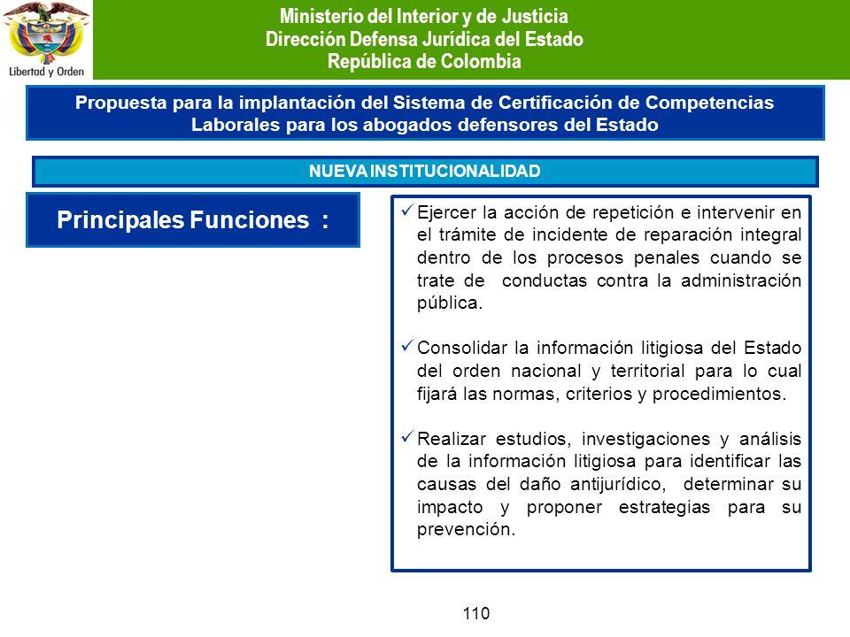 110 Propuesta para la implantación del Sistema de Certificación de Competencias Laborales para los abogados defensores del Estado NUEVA INSTITUCIONALI