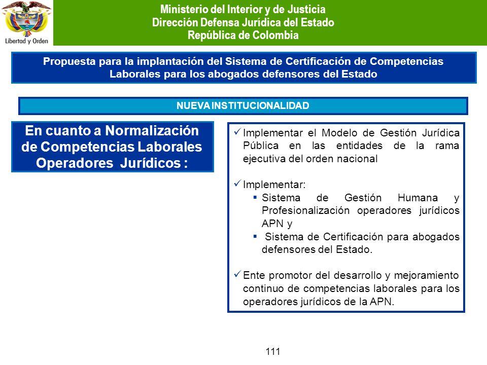 111 Propuesta para la implantación del Sistema de Certificación de Competencias Laborales para los abogados defensores del Estado En cuanto a Normaliz