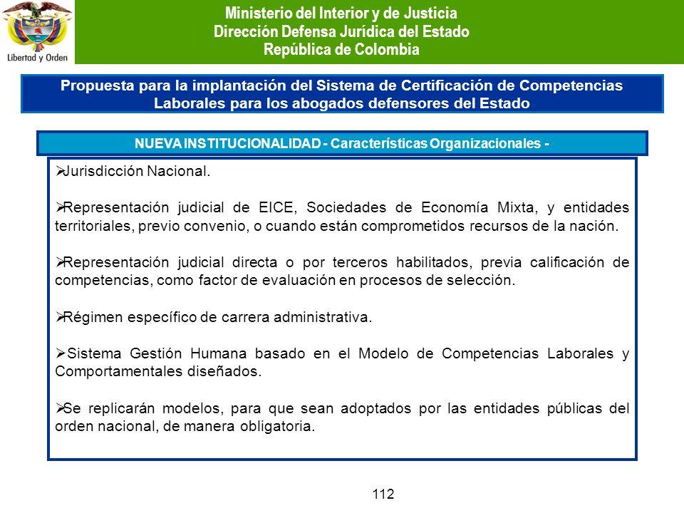 112 Propuesta para la implantación del Sistema de Certificación de Competencias Laborales para los abogados defensores del Estado Jurisdicción Naciona
