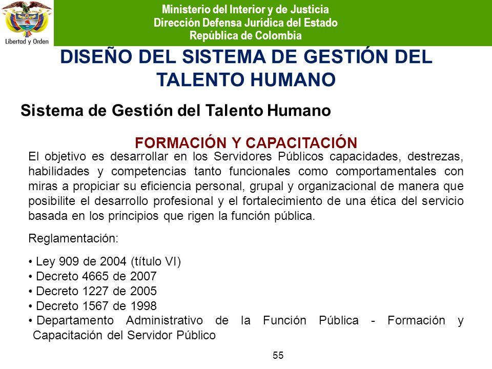 DISEÑO DEL SISTEMA DE GESTIÓN DEL TALENTO HUMANO El objetivo es desarrollar en los Servidores Públicos capacidades, destrezas, habilidades y competenc